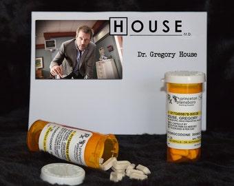 "TV Show House MD Exact Replica ""Gregory House"" Prescription Vicodin* Pill Bottle"