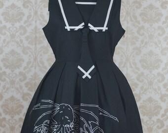 Nightmare Rising Gothic Lolita Jumperskirt in Black