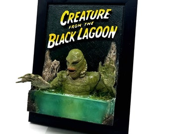 Creature from the black lagoon 3D plaque