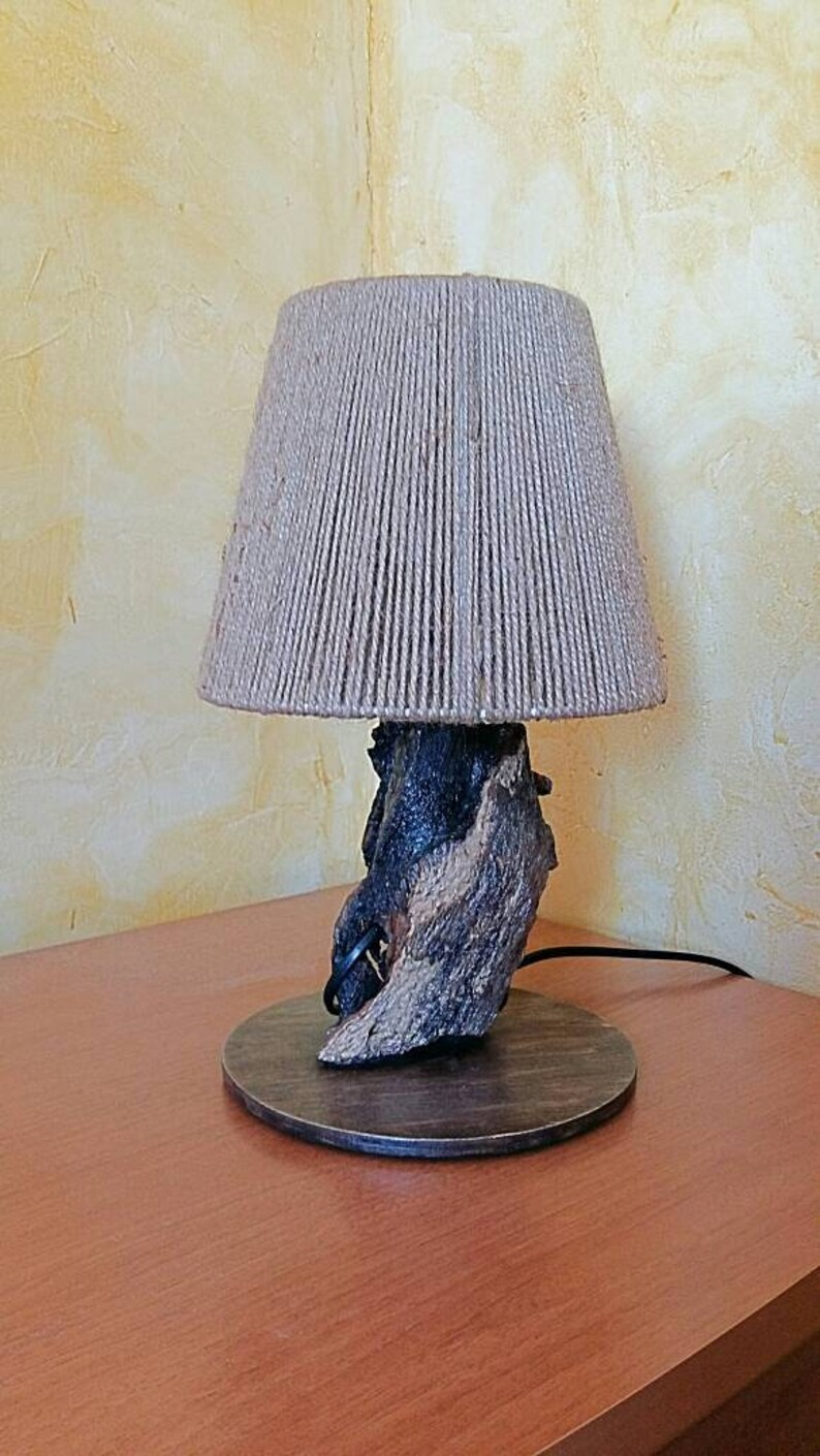 Wooden Lamp Table Wood Decoration