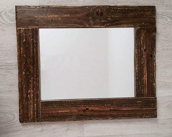 Mirror, Wooden mirror, Rustic mirror ,Rectangular mirror, Wood rustic mirror, Rectangular wooden mirror, Wood decorative mirror, Wall mirror