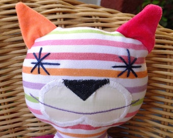Stripy Bubago cat with Purple and Lavender Arm