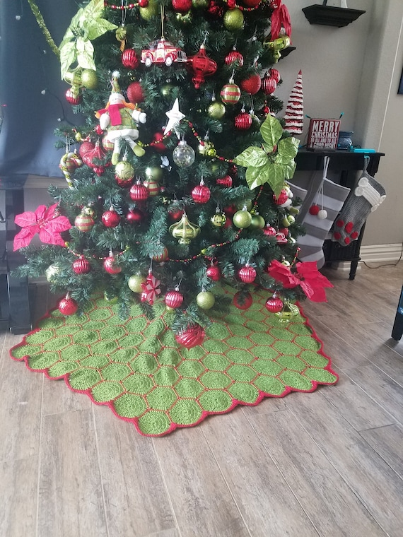Christmas Tree Skirt Patterns To Sew.Ak Crochet And Sew Hexagon Christmas Tree Skirt Pattern