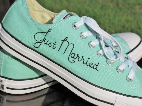 2563cd5b797537 Custom Wedding Converse Custom Converse Custom Chuck