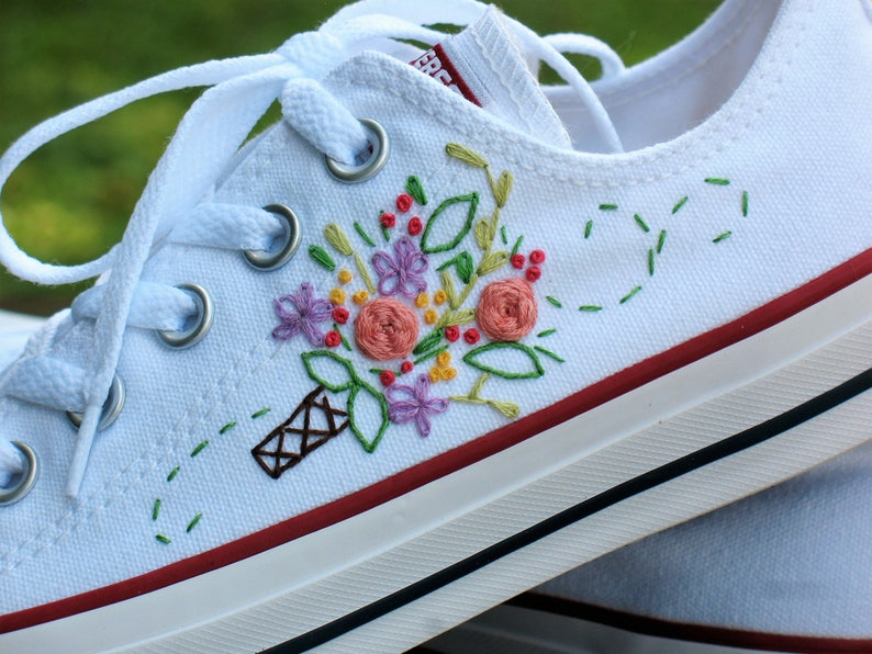 2188e1d3e9e1 Wedding Converse Custom converse wedding shoes embroidered