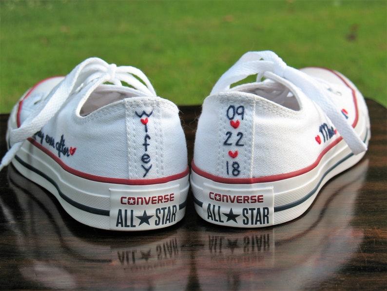 9adcf18fccad Custom Wedding Converse Custom Converse Custom Chuck