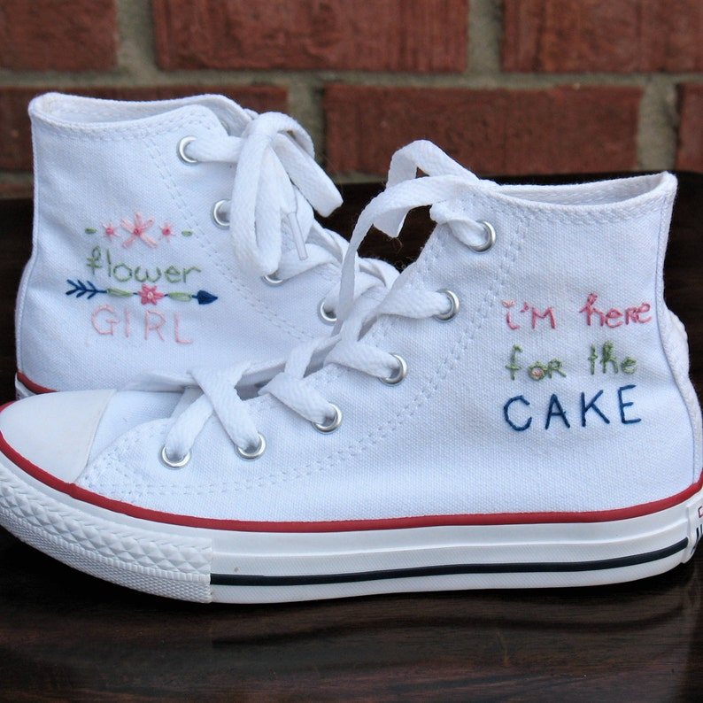 7cfbe01b1a83 Flower girl shoes Custom Converse Wedding Converse Kid