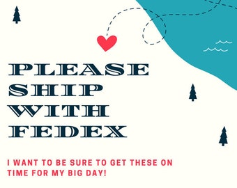 Add on fee for FEDEX SHIPPING