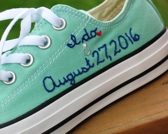 Custom Converse, Custom Wedding sneakers, Wedding Converse, Custom Wedding Shoes, Custom Chucks, Custom Keds, Custom Toms, Wedding shoes