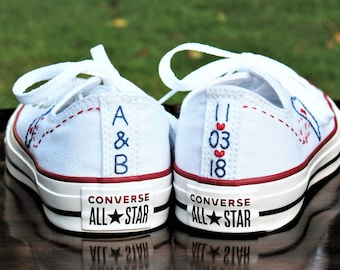 Custom Wedding Converse, Custom Converse, Custom Chuck Taylors, Custom Bride Sneakers, Custom Wedding Shoes, Custom Chucks, Wedding shoes
