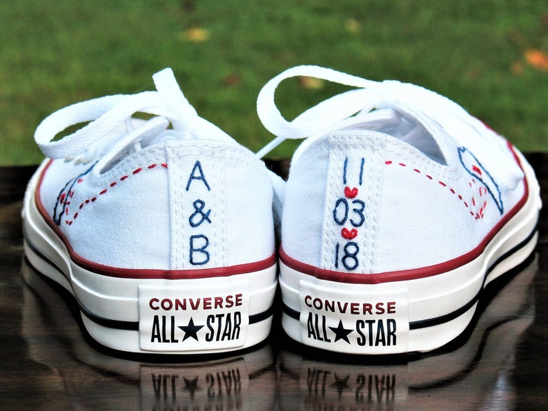 aeeed8fa9ac5f0 Custom Wedding Converse Custom Converse Custom Chuck