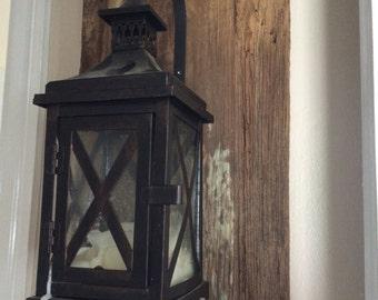 reclaimed barnwood lanterns
