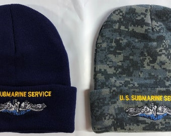 US Navy US Submarine Force Veteran Silver Dolphins Unisex Warm Hat Knit Hat Skull Cap Beanies Cap