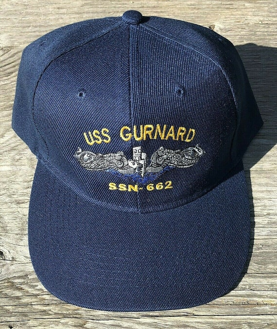 USS Hawkbill SSN-666 Ball Cap Embroidered Submarine Dolphins Veteran Navy Hat