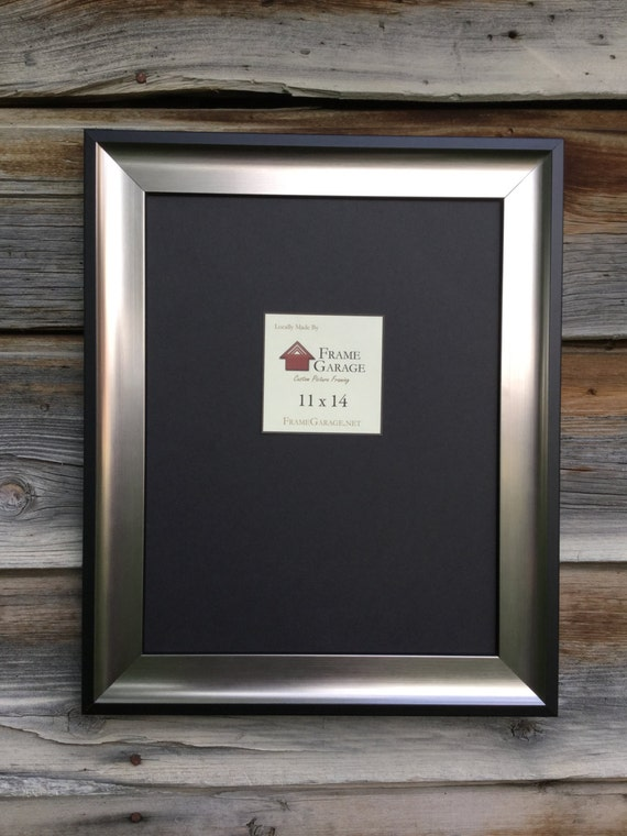 Silver and Black Scoop Frame 8x10 or11x14