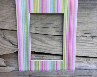 Striped 8x10 Mat with a 5x7 opening- stripes