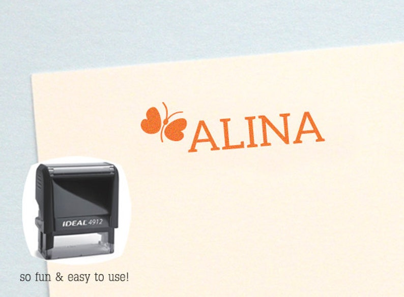 Personalized Girl Name Stamp Birthday Gift Self Inking