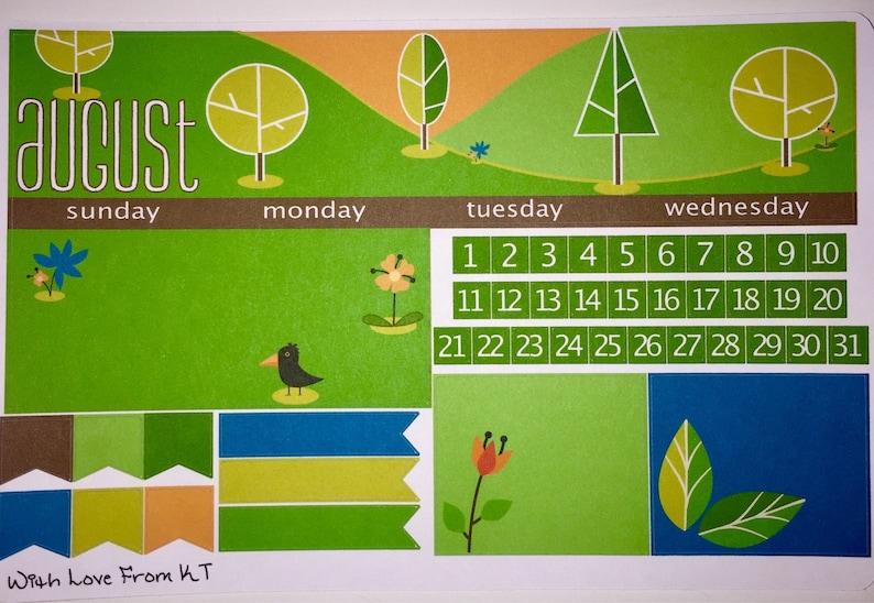 August Monthly Sticker Kit