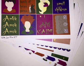 Hocus Pocus Planner Sticker Kit