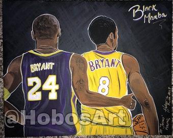 Kobe Bryant 24 8 Wall Art (Prints)