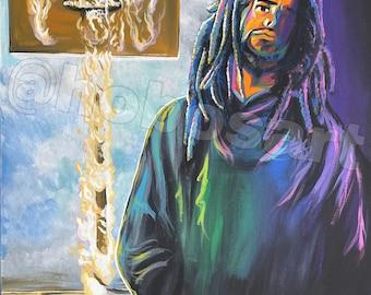 Off-Season Colorful J Cole Wall Art