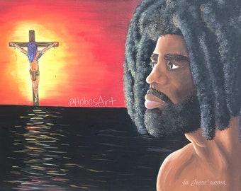 Barabbas Looking at Jesus Wall Art