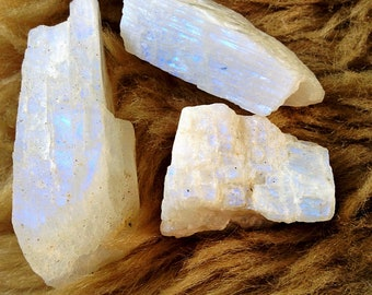 Rough natural Moonstone