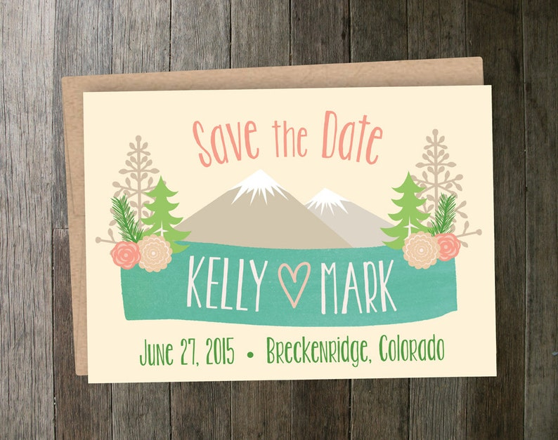 Mountain Floral Save the Date image 0