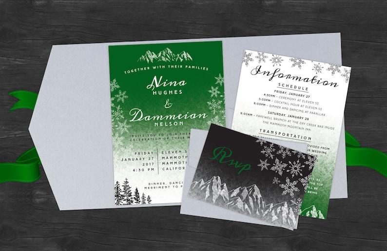 Modern Winter Wedding Invites image 0