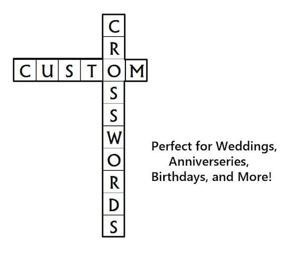 Personalisierte Kreuzworträtsel Perfekt Für Hochzeiten Etsy
