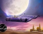 Magic Flying Carpet Digital Background