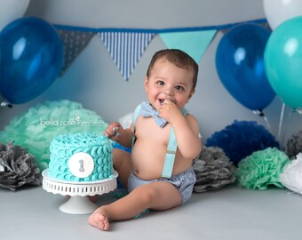 Incredible Cake Smash Outfit Boy Baby Boy Smash Cake Outfit 1St Etsy Personalised Birthday Cards Bromeletsinfo