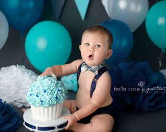 Baby Boy First Birthday Outfit Cake Smash Suspenders And Bow Tie Outfits Little