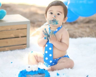 Cookie monster 1st birthday, cookie monster party, boys 1st birthday clothes, boys smash cake outfit, blue 1st birthday, baby birthday
