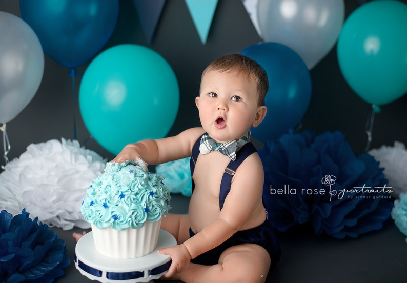 Baby Boy First Birthday Outfit Cake Smash