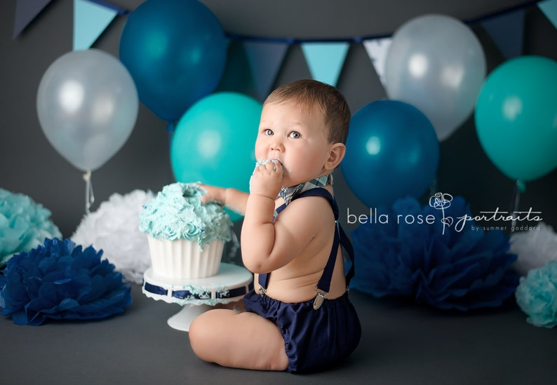Boys First Birthday Outfit Baby Boy Smash Cake Bow