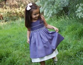 Purple Smocked Dress