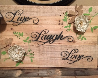 Reclaimed Pallet wood Sign