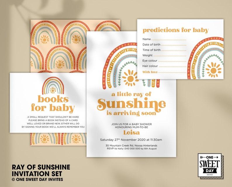 Terracotta Baby Shower Invite Printable Bohemian Rainbow Baby Shower Invitation Template Suite Gender Neutral Baby Shower Boho ANSLEY