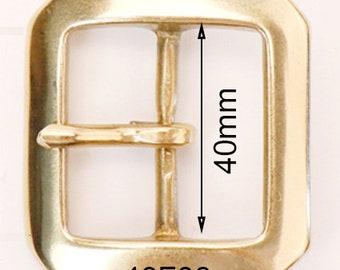 "40F08 40mm 1 1/2 inch 1.5 ""  Solid brass buckle Belt Buckle / Bag Buckle/ Brass Buckle / Vintage Buckle / men Belt buckle"