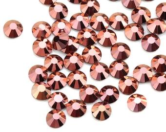 SS16 SS20 SS30 Gold Rose Color Crystal Glass DMC rhinestones Iron On  Rhinestone Hot Fix Rhinestone For Clothes Decoration 8e7e1732e130