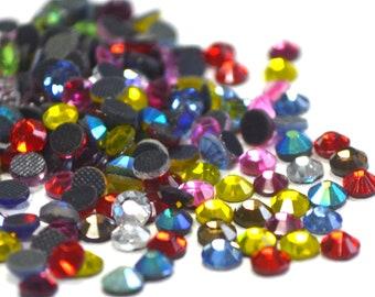 Hotfix Rhinestones, High Quality DMC Rhinestones, Mixed Colors Strass, Crystal Glass Material Rhinestones, Craft Supplies 800pcs FRS66E