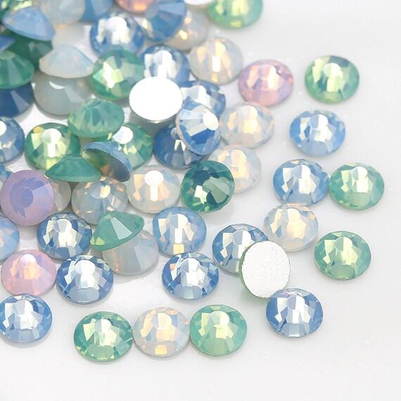 SS3-SS20 New Mix Color Opal 1440pcs 3D foild flatback rhinestone beads glue  on non-hotfix nail art clear color crystal rhinestone 77d7520ac646
