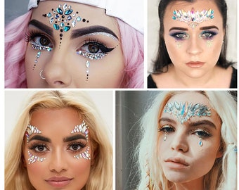 Face Jewels Festival, Face Jewelry Rhinestones for Women, Face Body Jewels Stickers, Crystal Jewels Sticker, Electronic Music Party