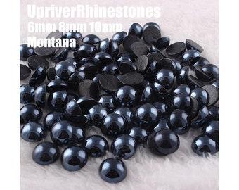 Montana Half Pearls, Ceramic Flatback Pearls, Half Pearl Cabochons, Embellishment, Craft Supplies, 6mm 8mm 10mm Half Pearls  HZBY22