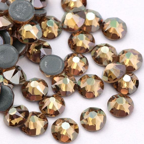 Topaz AB Hotfix Rhinestones For Clothing Wedding Garment Flat Back Hot Fix  Crystals Rhinestone Accessories fe788e3c9819