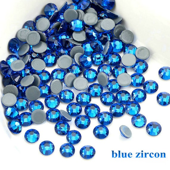 Blue Zircon 1440pcs Hot Fix Rhinestones SS6 SS8 SS10 Flat Back  eb526aeec3a1