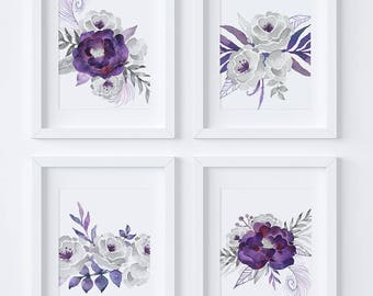 Purple Wall Decor Etsy