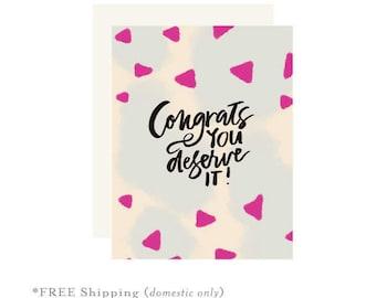 Congratulations cards etsy congrats card congratulations card promotion card achievement card confetti card you altavistaventures Choice Image
