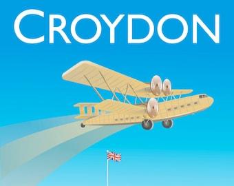 Croydon Poster Vintage Style London